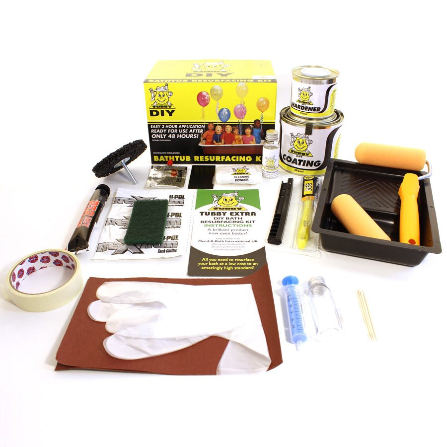 Enamel Bath Resurfacing Kit - Tubby Extra